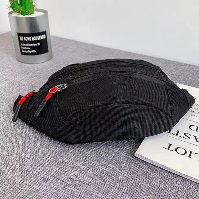Hight Quality Chest Bags Thick Canvas Half Moon Chest Bag Fashion Brand AD Chest Bag With Smooth Zipper Open And Outer Pockets