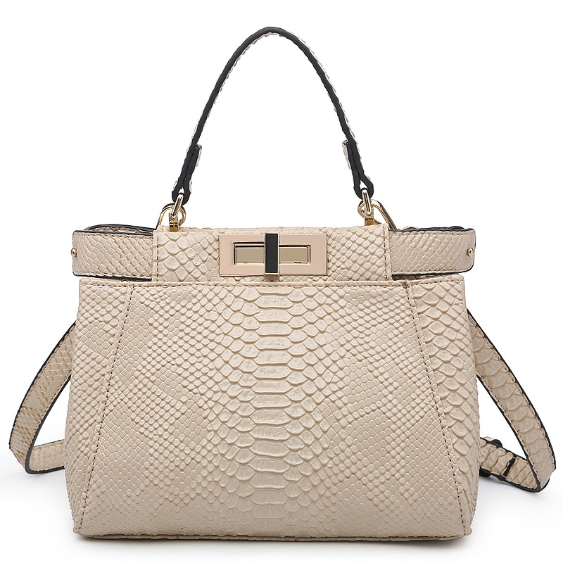 2021 Summer Python Pattern Tote Bag Fashion Shoulder Bag for Women Luxury Brand Designer Female Handbags