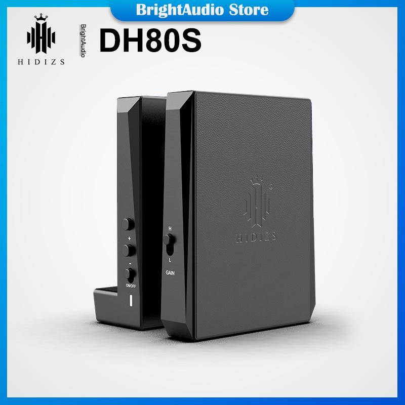 Hidizs DH80 DH80S ESS9281C برو رقاقة المحمولة متوازنة DAC أمبير مضخم ضوت سماعات الأذن دعم MQA DSD128 3.5 + 4.4 مللي متر الناتج