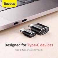 Адаптер Baseus USB Type A/USB Type-C, Micro USB/USB Type C