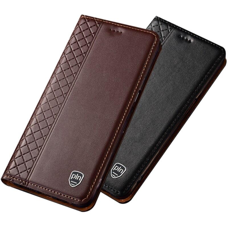 Genuino bolsa de cuero Teléfono soporte con ranuras para tarjetas de crédito para Nokia 9 PureView/Nokia/8 Sirocco/Nokia 8,1/Nokia/8 teléfono caso funda