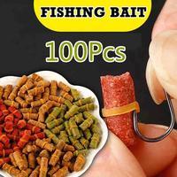 100 шт./пакет, красная, желтая, зеленая рыболовная приманка, запах травы, наживка для ловли Карпов, приманка на рыбалку, формула, удилище для на...
