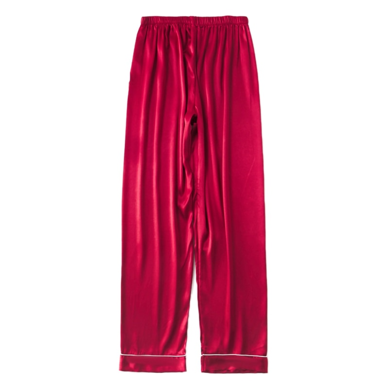 Mens Silk Satin Pajamas Pyjamas Pants Lounge Pants Sleep Bottoms Size L-3XL Plus 3 Colors