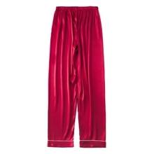 Mens Silk Satin Pajamas Pyjamas Pants Lounge Pants Sleep Bottoms Size L-3XL Plus 3 Colors