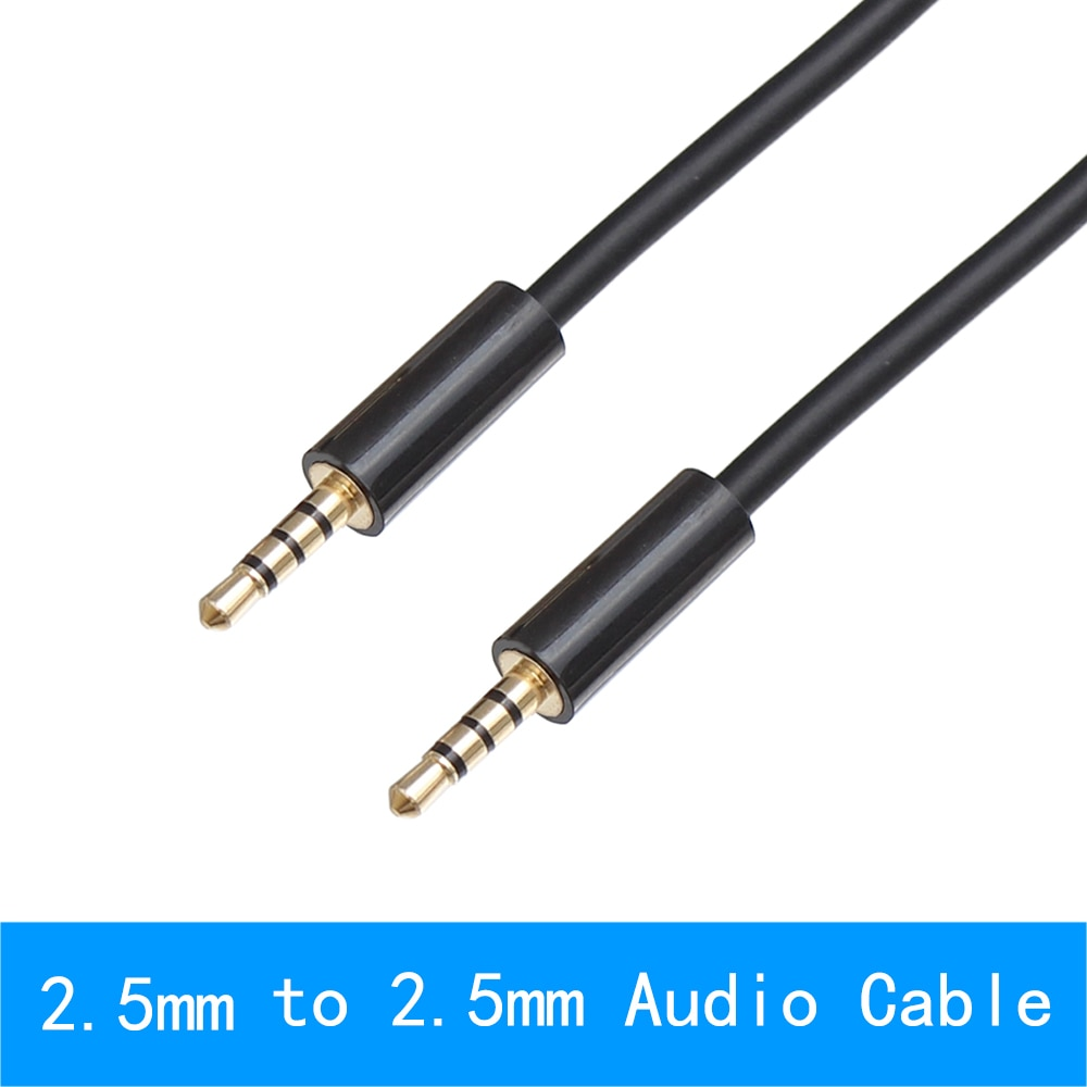 0,2 m 1m 2m 4 polos de 2,5mm a 2,5mm Cable de...