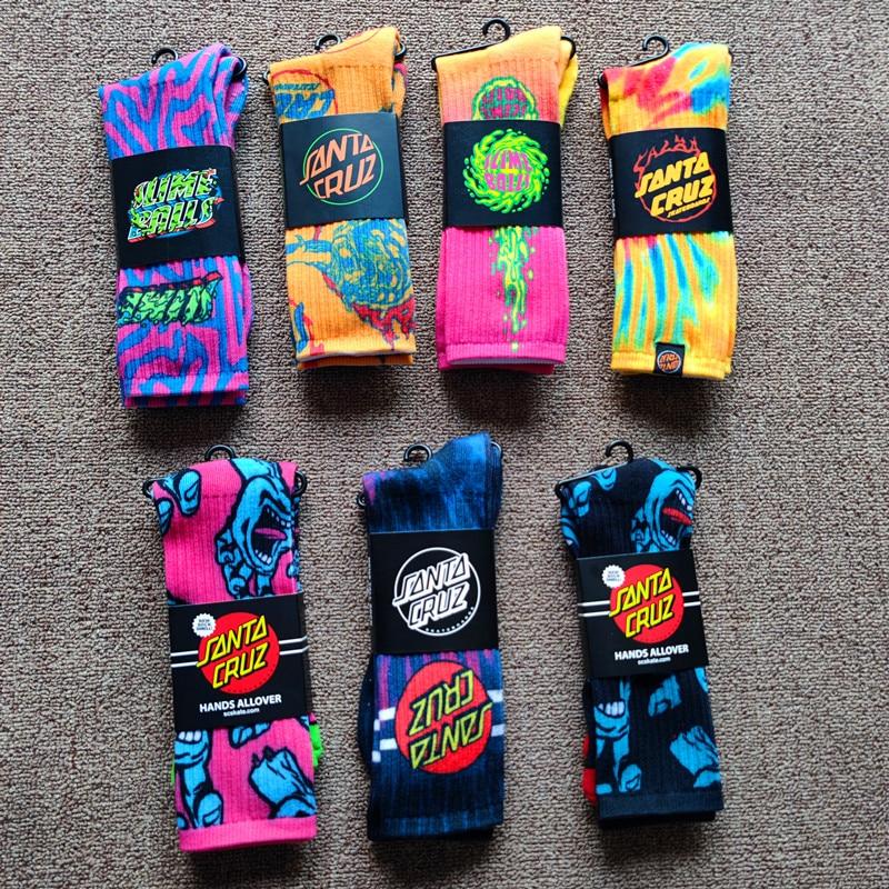Модные носки унисекс для уличного скейтборда с принтом высокие носки