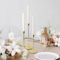 nordic metal candlestick gold candle holders wedding decoration bar party home decor candlestick candlelight dinner