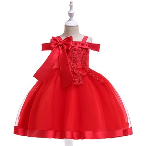 Children Princess Flower Ball Gown Cute Tulle Lace Wedding Girl Dress Christmas Special Occasion Dresses Kids