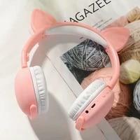 wireless head mounted cat earphone bluetooth compatible cute student child deep bass earphone fone de ouvido gifts for kids