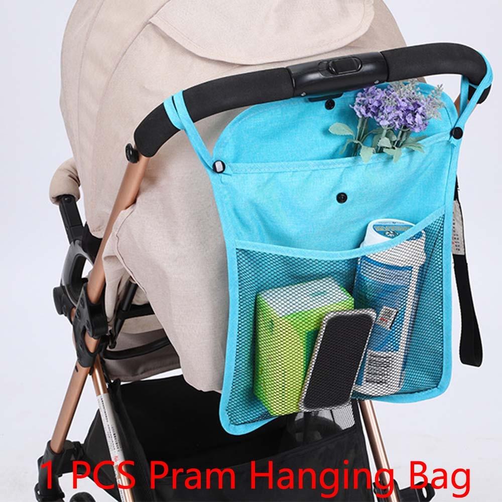 1pc Baby Infant Trolley Bag Stroller Organizer Pram Cart Mesh Hanging Storage Bag Seat Pocket Carriage Bag Stroller Accessories