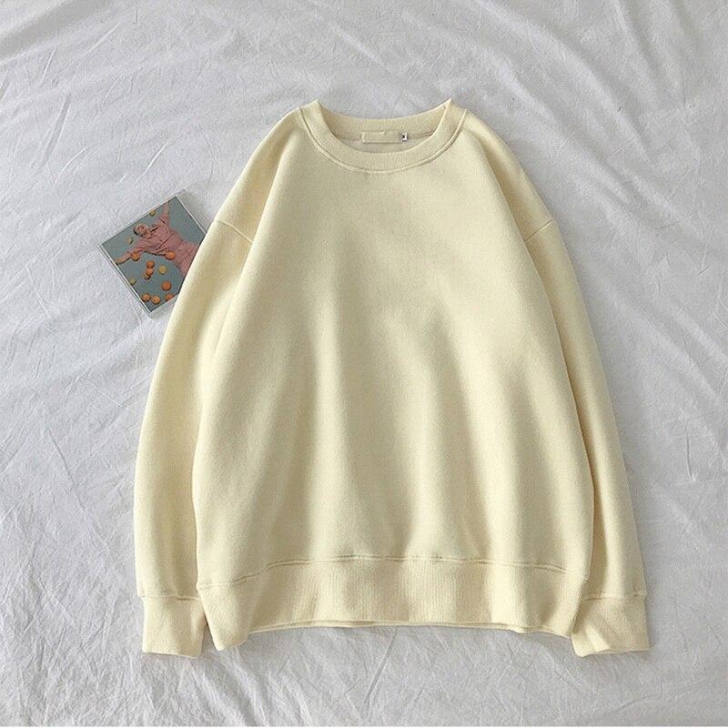 Casual O-Neck Sweatshirt Korean Pop Tops Sweatshirts Basic Hoodies For Women Streetwear Female Autum