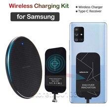 Qi Sans Fil De Charge pour Samsung Galaxy A20 A30 A40 A50 A60 A70 A90 A10e A20e A20S A30S A50S A70S Chargeur Sans Fil + USBC Récepteur