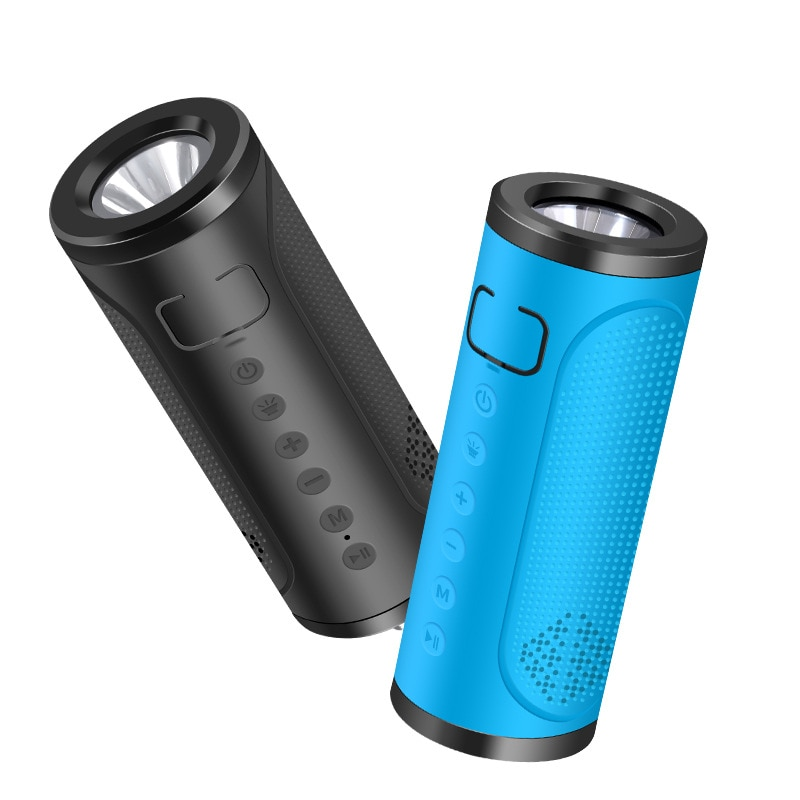 Luz LED de bicicleta para montar al aire libre tarjeta impermeable TF Altavoz Bluetooth inalámbrico sistema de sonido estéreo de música envolvente