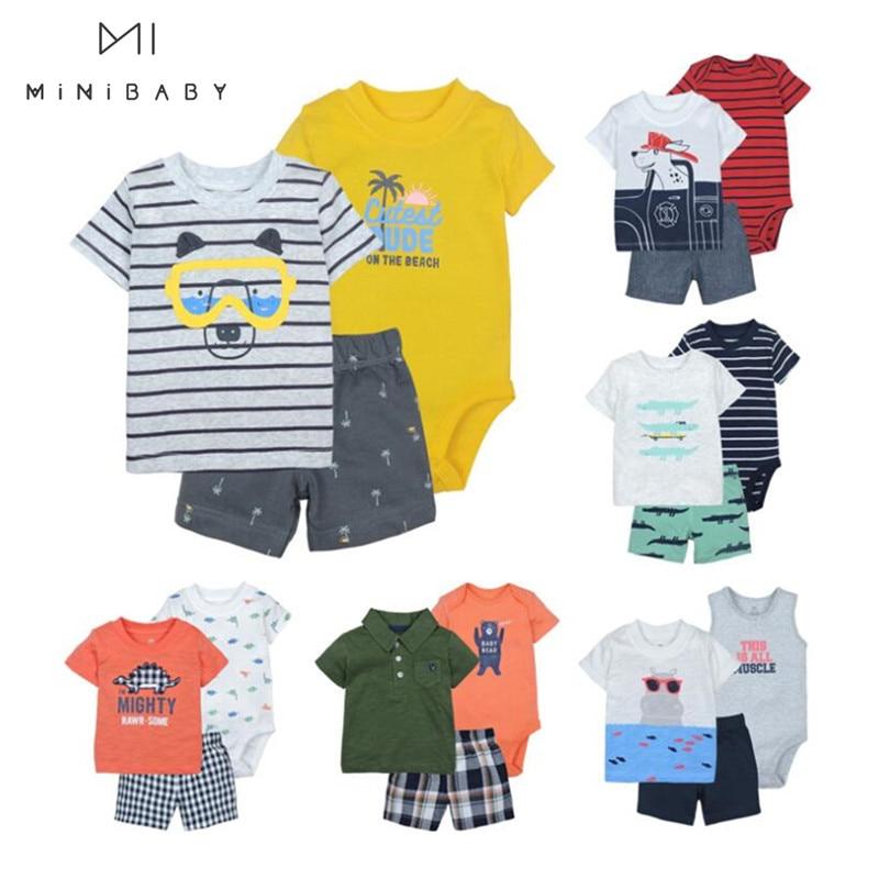 Venta de liquidación, conjunto de ropa de verano para bebés, conjuntos de ropa para niños, camiseta + Pantalones cortos, ropa infantil para niños, ropa infantil