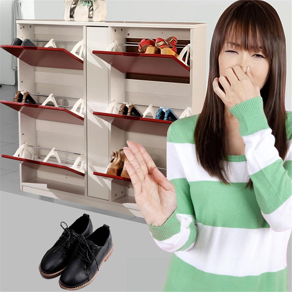 Nueva bola eliminadora de olores de 10 Uds para zapatillas zapatos de cuero armario de zapatos desodorante de eliminación de olores # CW