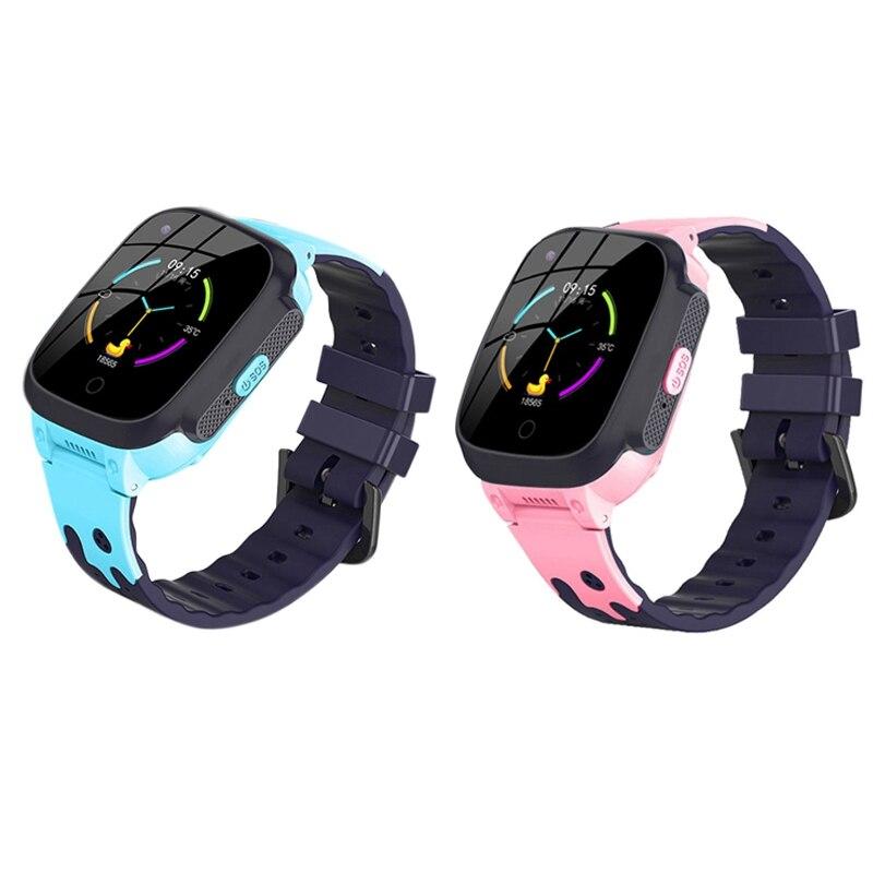 2 قطعة 4G ساعة ذكية للأطفال HD الصحافة الشاشة لتحديد المواقع للأطفال لتحديد المواقع ساعة مع كاميرا الدعوة ، الوردي والأزرق