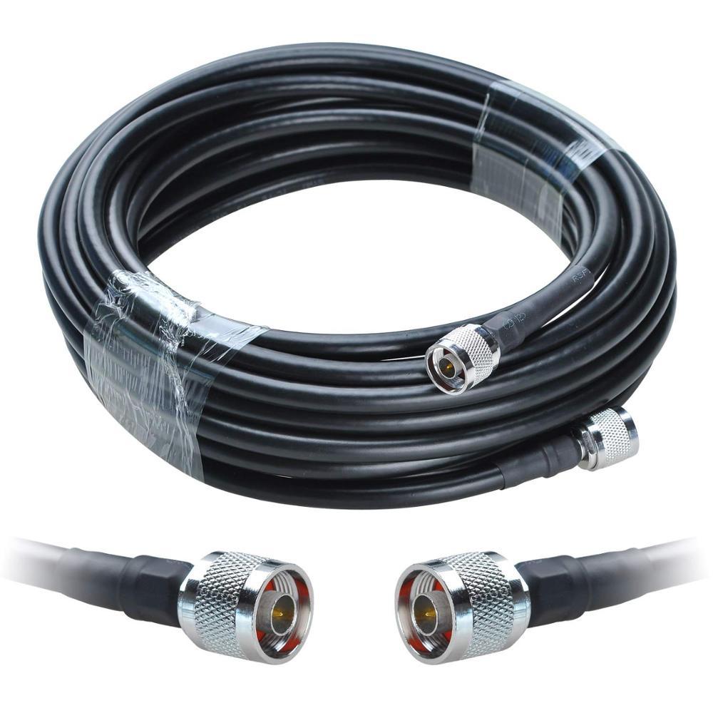 Lmr400 cabo rf coaxial n macho plug para macho cabo de extensão adaptador cabo ksr 50-7 militar qualidade 15 metros