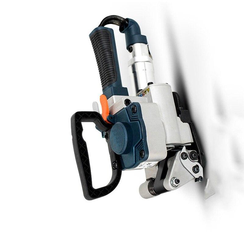 هوائي المكبس صندوق خشبي قطعة صغيرة من البلاستيك حزام ناقل من الفولاذ المكبس PET/PP مكبس تلقائي الغراء الساخن المكبس ZM-B19 YZ