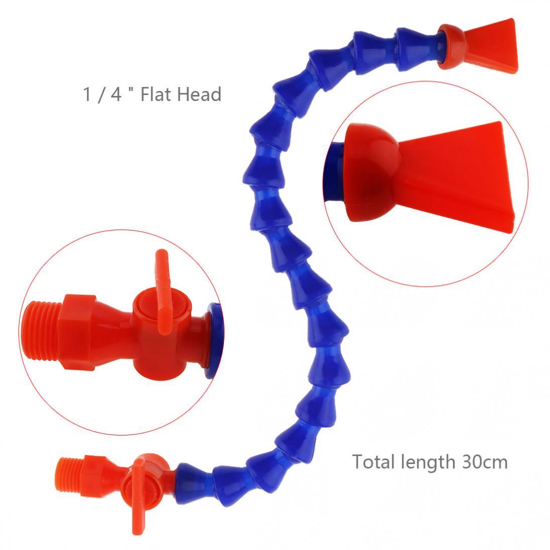 Pulverizadores de enfriamiento de 1/4 pulgadas, boquilla plana de 300mm, tubo de enfriamiento de aceite de agua Flexible de plástico con interruptor para máquina CNC/fresado/torno