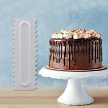 1PC Pastry Icing Comb Set Plastic Cake Scraper Texture Baking Spatulas Mold Fondant For Cake Confectionery Cake Decorating E9O8