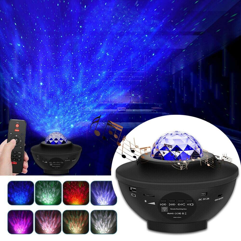 YEFUI 21 اللون غالاكسي النجوم ليلة ضوء LED ستار الموسيقى المحيط موجة بلوتوث متوافق مضيئة مصباح غرفة نوم ديكور الأطفال هدية