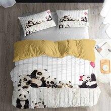 HELENGILI 3D Bettwäsche Set Panda Print bettbezug-set lebensechte bettwäsche mit kissenbezug bett set home Textilien # XM-01