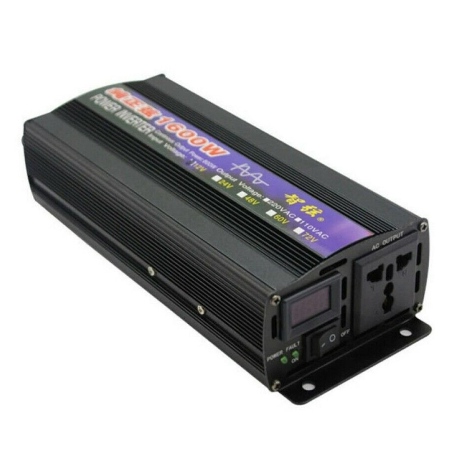 1600 واط سيارة الشمسية نقية شرط موجة عاكس الطاقة DC12/24 فولت إلى AC110/220 فولت محول 12 فولت-110 فولت 12 فولت-220 فولت 24 فولت-110 فولت 24 فولت-220 فولت