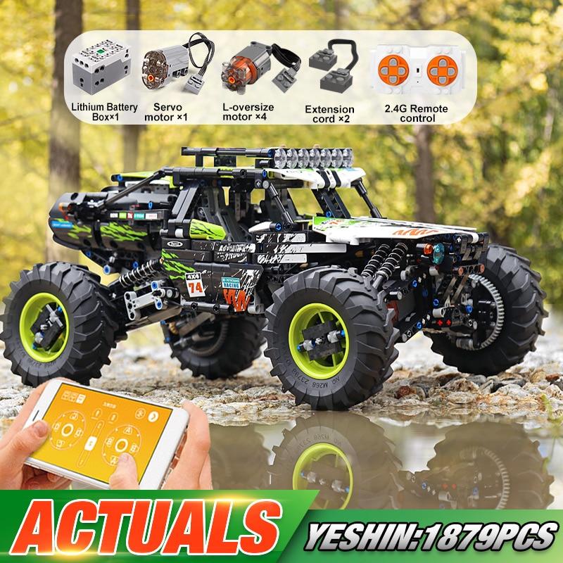MOULD KING-bloques de construcción de coche Buggy teledirigido 4WD para niños, juguete...