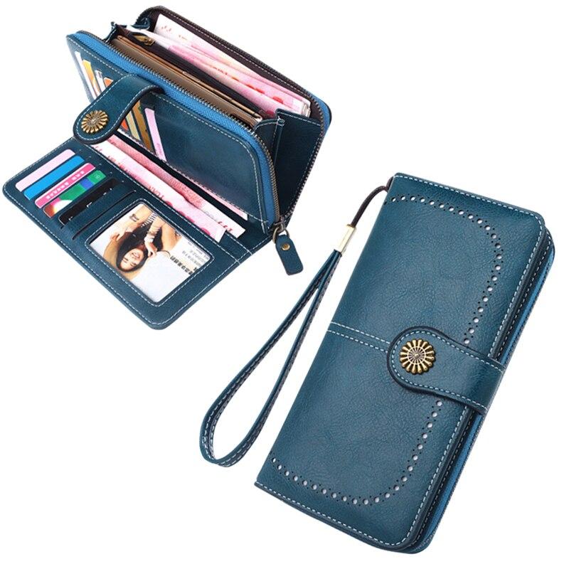 2020 женские кошельки модные длинные кожаные высшего качества кредитница Классический женский кошелек на молнии брендовый кошелек для женщи...
