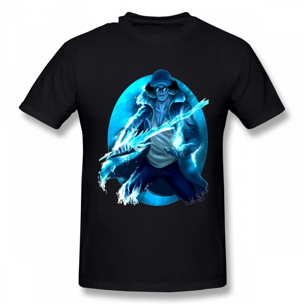 One Piece Navy Aokiji Kuzan Camiseta para hombre ocio verano hombre Camiseta de talla grande