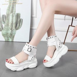 35-39 size Summer women shoes Height incresing shoes women sandals platform ladies shoes colleges students sandals ins gladiator