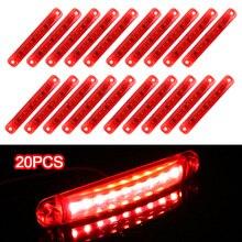 LEEPEE 20 Pçs/set 9 24V Lâmpadas LED Luzes de Estacionamento Vermelho Luzes de Presença Laterais Para Ônibus e Caminhão e Reboque de Caminhão Acessórios Cauda indicadores