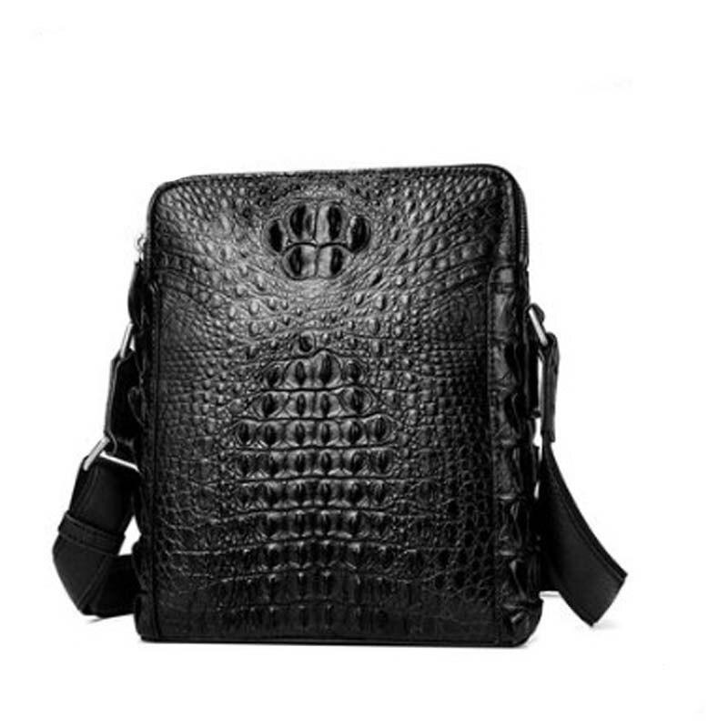yuanyu Crocodile leather men's bag genuine imported crocodile leather single shoulder cross bag genuine crocodile leather bag