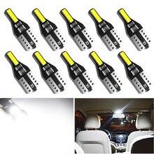 Lumières intérieures de voiture T10 W5W   10 pièces, phares intérieurs de voiture pour Ford Fiesta Focus 2 3 Fusion Ranger Kuga S Max MK5 Mustang, de fuite pour Auto 12V