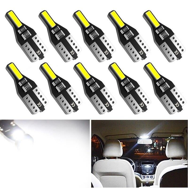 10x T10 LED W5W LED luces interiores para automóvil para Lexus RX300 IS250 GS300 RX RX330 GX470 LX570 RX350 LX470 GS RX 330 Leds para Auto 12V