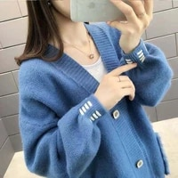 new spring and autumn sweater coat cardigan womens t shirt