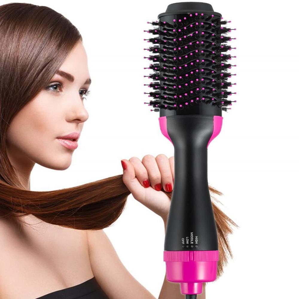 3 In 1 One Step Hair Dryer and Volumizer Hair Salon Hot Air Paddle Styling Brush Negative Iron Generator Salon Hair Straightener