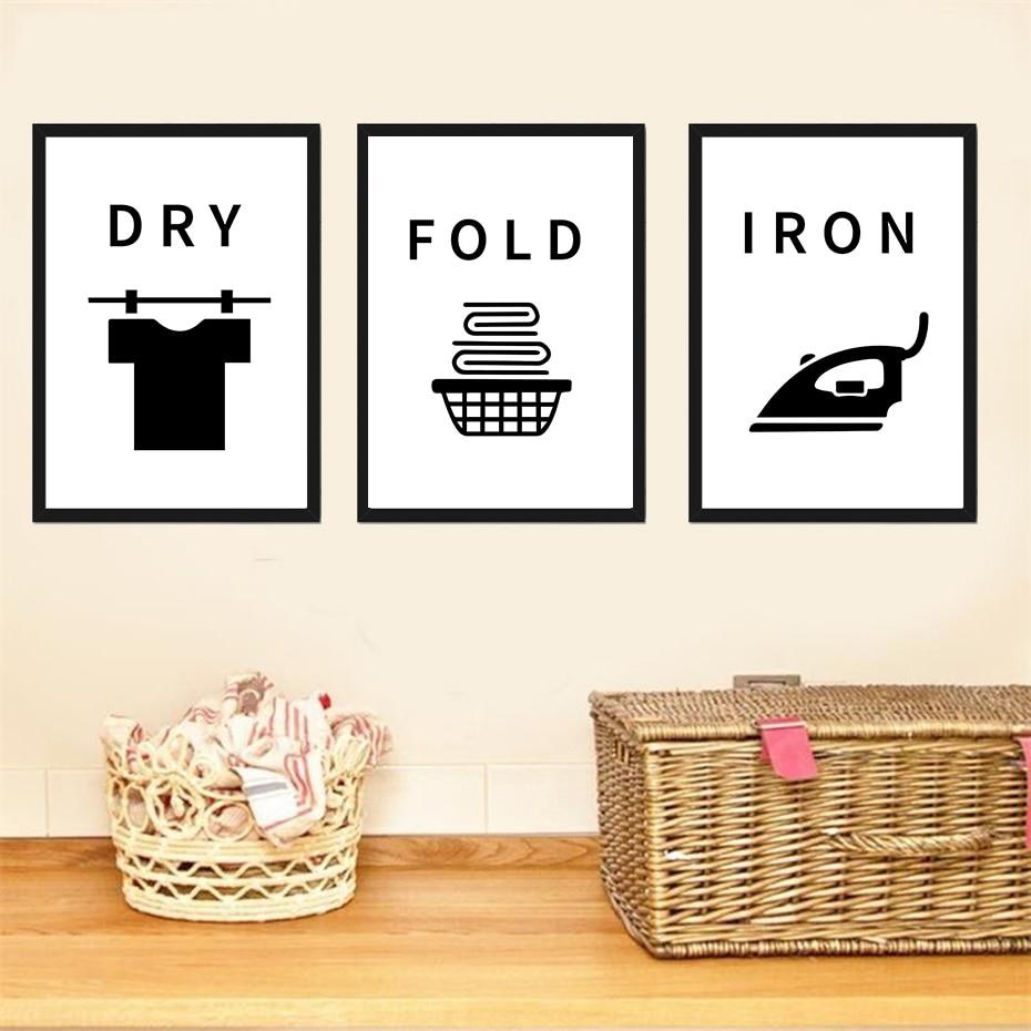 Consejos divertidos para la sala de lavandería, decoración del hogar, murales artísticos para pared en seco y lavado, cuadro Modular, póster de pintura en lienzo moderno