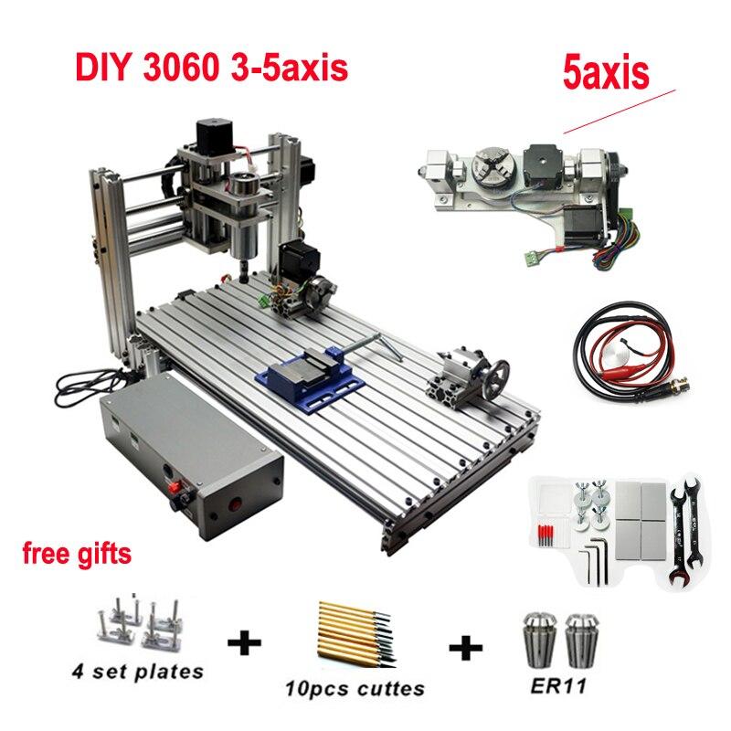 Máquina de gravura do cnc 3060 do metal fresagem de madeira roteador para o gravador de madeira do pwb que trabalha 3-5 eixos mach3