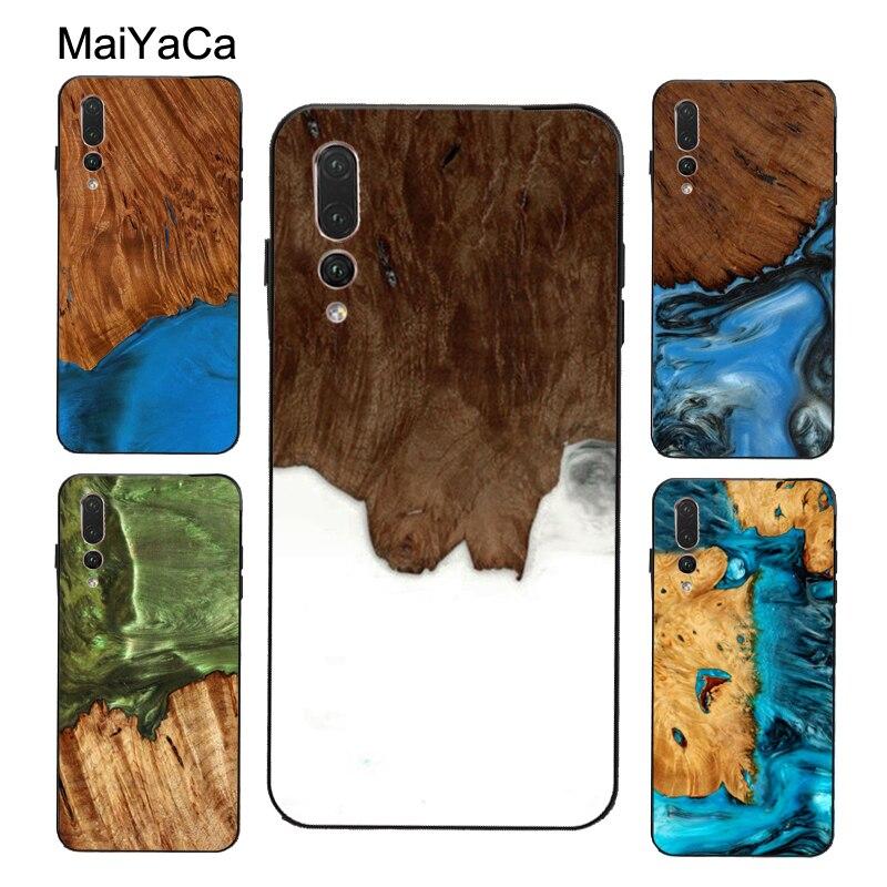 MaiYaCa, carcasa de madera de resina para viajero para Huawei P30, P20, P40 Pro, P10, Mate 20, 30, 10 Lite, P Smart 2019, funda Z