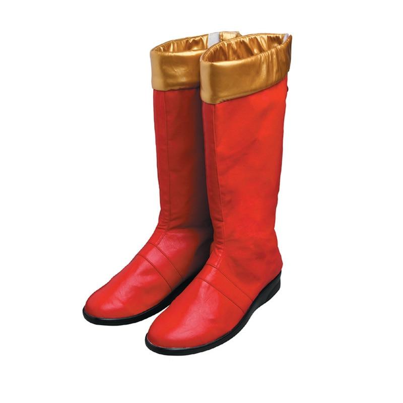 الكبار الرجال الحارس أبطال الأحمر الحارس الأحذية تأثيري حلي يتوهم هالوين حفلة تنكرية أحذية قدم الملحقات