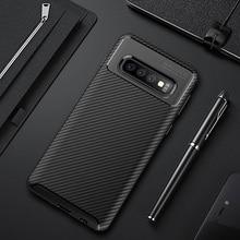 Case For Samsung Galaxy S10 5G Phone Case S10E Luxury Carbon Fimber Bumper Soft Case For Samsung S10E S10 Plus S9 Cover Funda