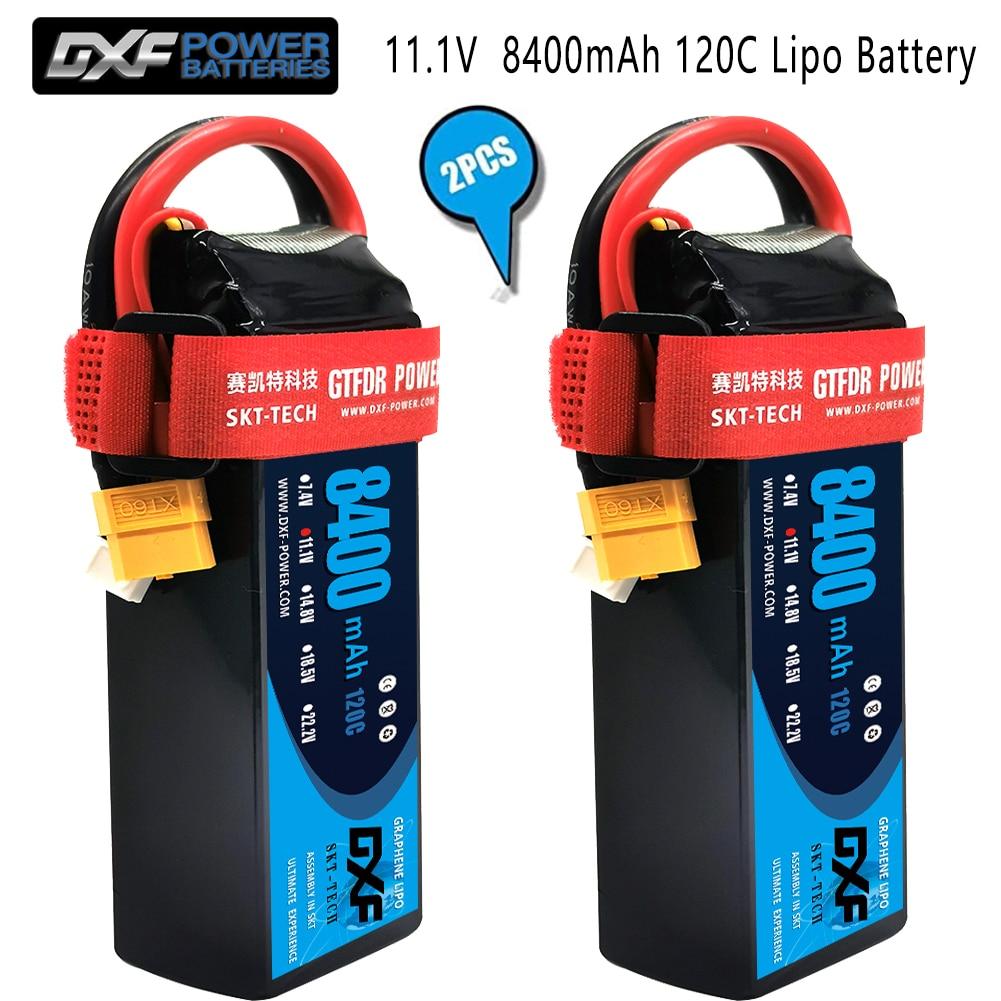 DXF 2PCS Lipo Battery 2S 3S 4S  7.4V 11.1V 14.8V 5200mAh 8000mAh 8400mAh 100C 200C 110C 220C 120C 240C for 1/8 1/10 Buggy car enlarge