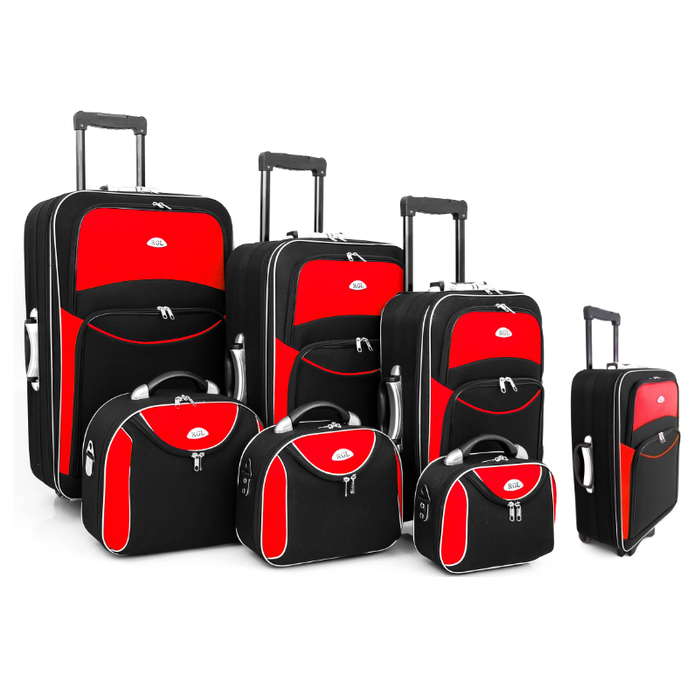 AliExpress - Set 7 suitcases colors 8 rear wheels 2 expandable zippers