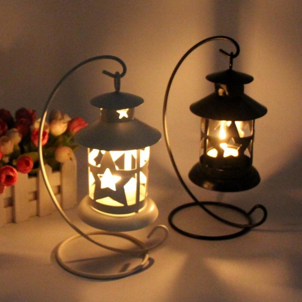 Europea velas colgantes Retro titular sostenedor de farol marroquí vela votiva titular linterna colgante Vintage candelabros