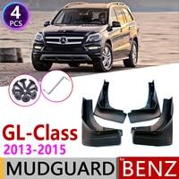 Car Mudflap for Mercedes Benz GL Class 2013~2015 Fender Mud Guard Splash Flap Mudguard Accessories GL350 GL400 GL450 GL500 2014