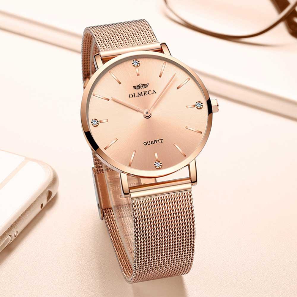 Sport Women Watches OLMECA Rose Luxury Brand Watch Dress Reloj Mujer Water Resistant Wrist Watch enlarge