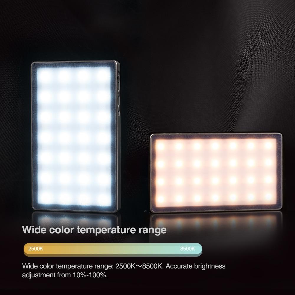 LAOFAS Rainbow Fresh RGB 2500K-8500K Mini Video LED Light Portable Full Color Light Fill Light for Camera Shooting Studio