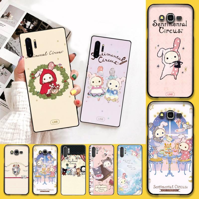Dessin animé mignon Sentimental cirque téléphone étui pour Samsung Note 7 8 9 10 Lite Plus Galaxy J7 J8 J6 Plus 2018 Prime