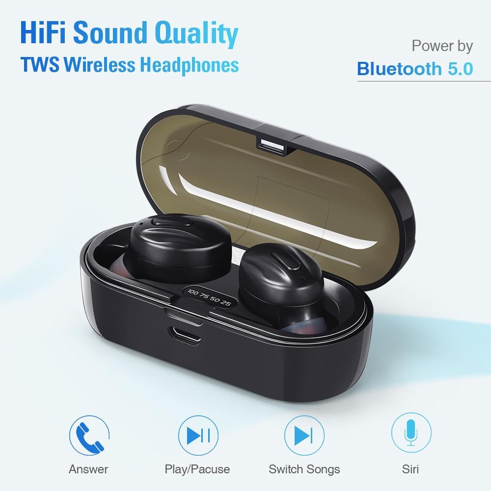 Bluetooth-Compatible V5.0 Earphones TWS True Wireless Headphones In-Ear Earbuds Waterproof Mini Headsets Stereo Sports Earpiece enlarge